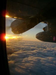 Sunrise taken from the C-130 during RF10 during VOCALS-REx (C. Terai)