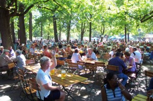 Figure 1 Beer garden atmosphere in Munich (picture from www.hirschgarten.de).