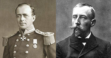 Scott (left) vs Amundsen (right), images Wikipedia commons