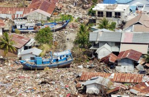 Figure 1: The destruction of the Indonesian coast by the tsunami in 2004. Source: UN Photo (04.04.2016).